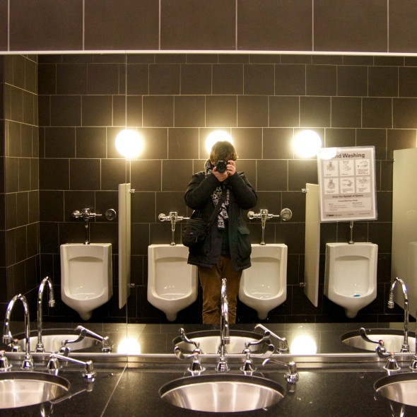 In a luxury bathroom in Toronto